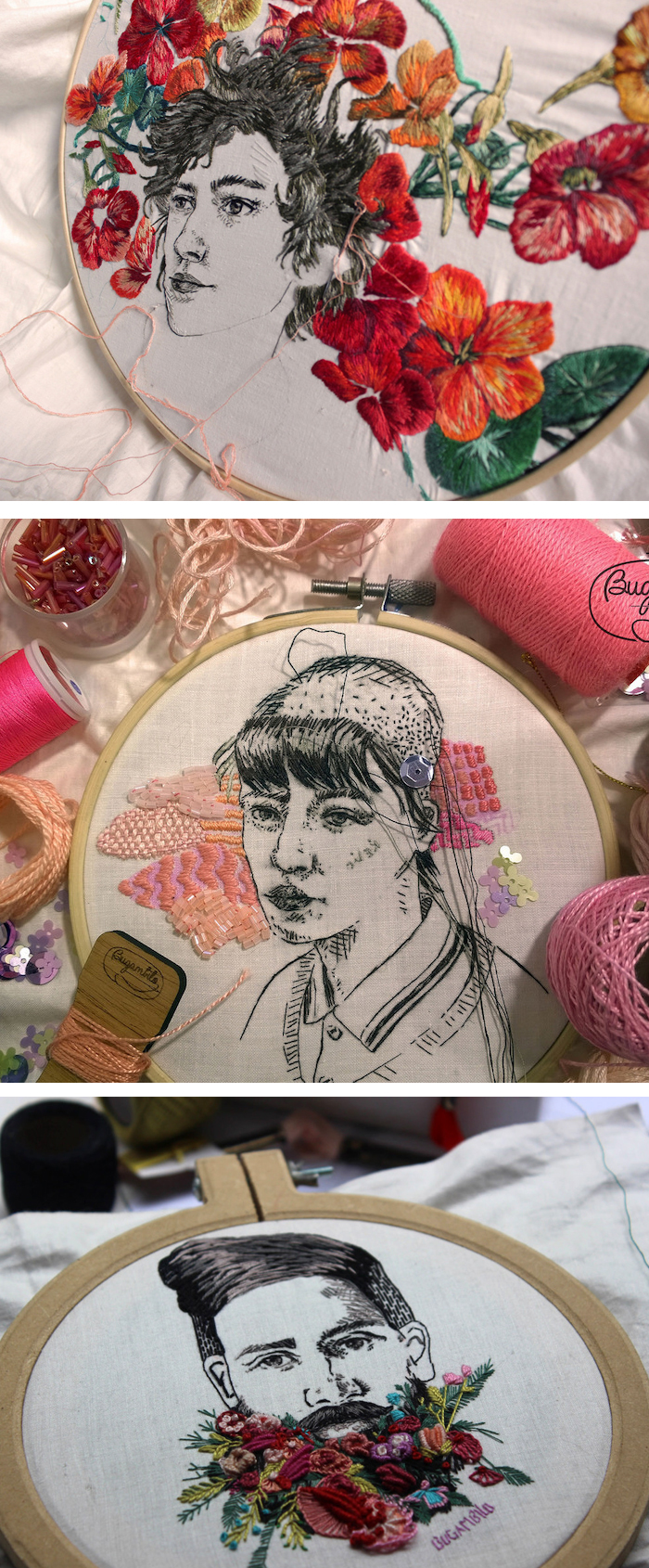 Embroidery by Bugambilo