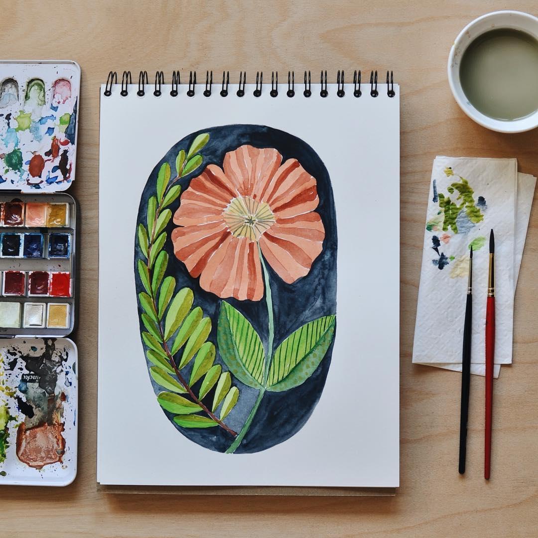 Punchneedle illustration by Arounna Khounnoraj