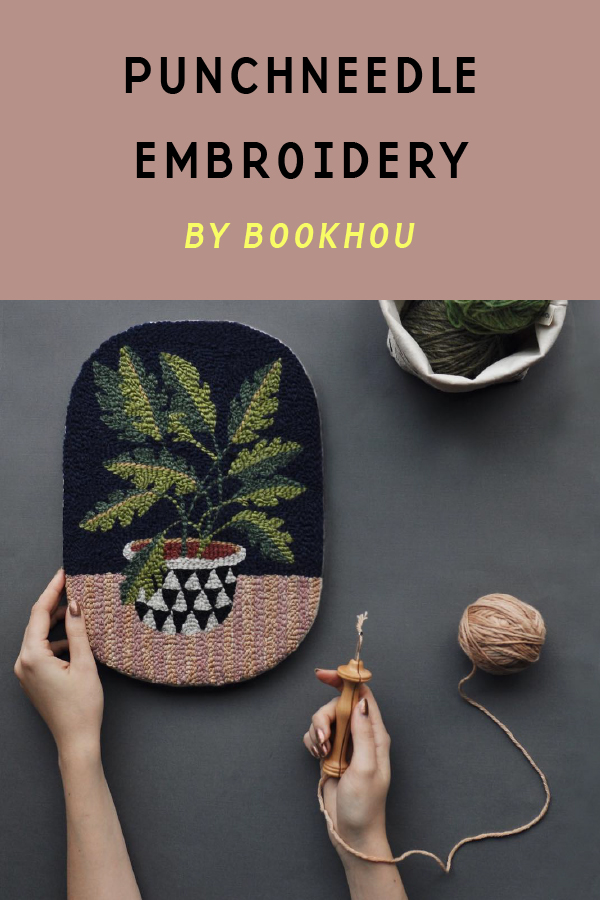 Punchneedle embroidery by Bookhou