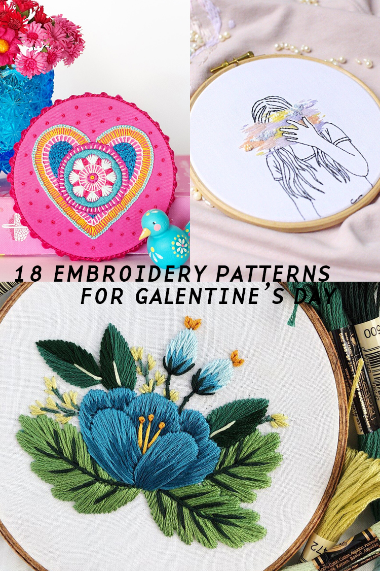 18 Downloadable Embroidery Patterns to Gift to Your Favorite Ladies on Galentine's Day (Right Now!)