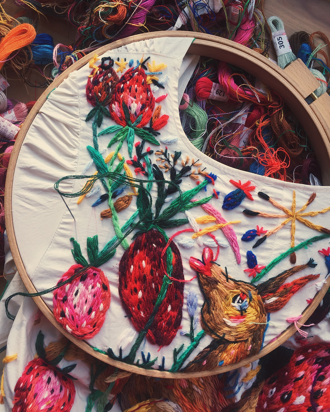 72f445382 Colorful Custom Embroidered Clothing by Lisa Smirnova