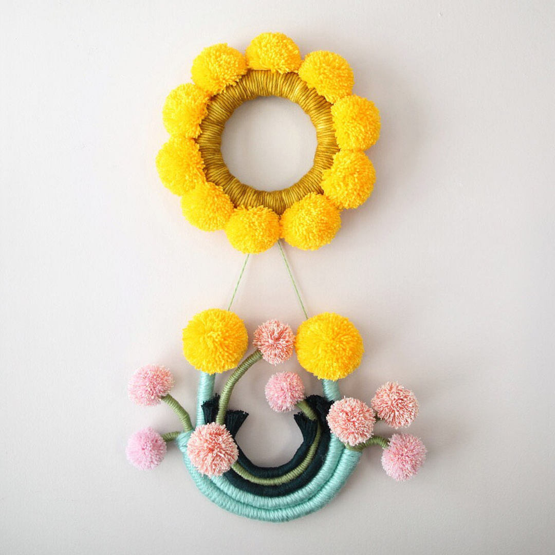Floral-Inspired Fiber Art Creates Bustling Bouquets That Hang on Walls