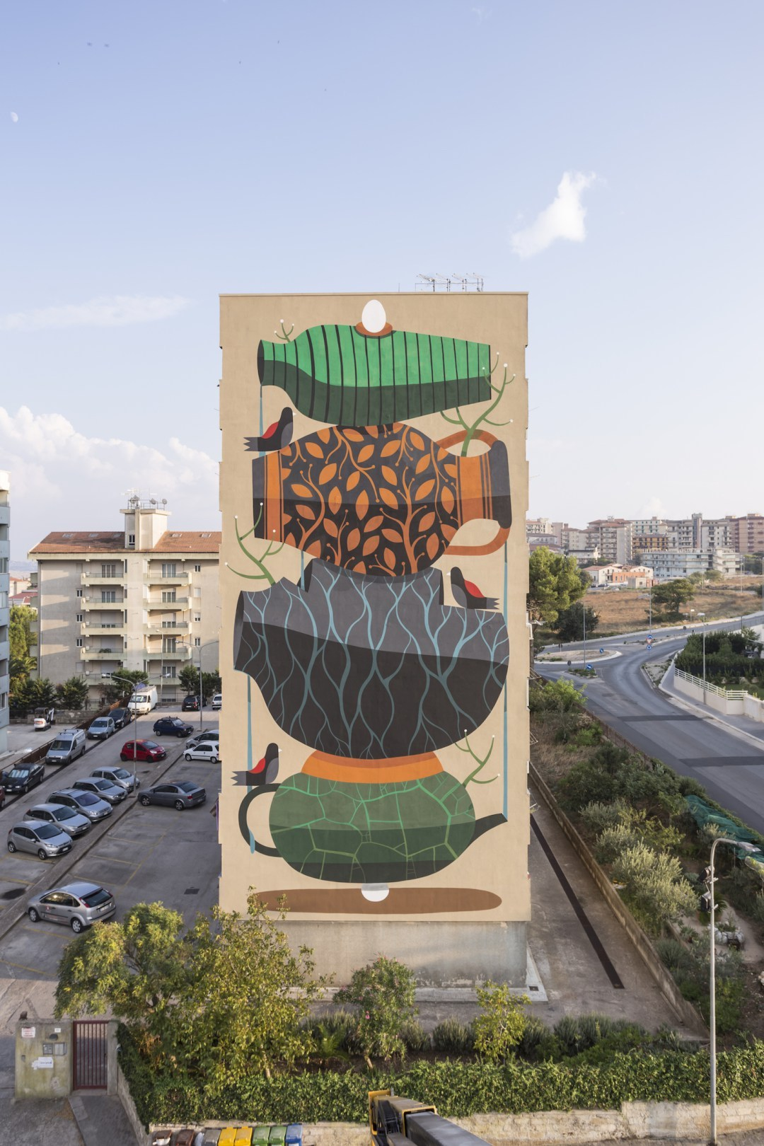 Mural paintings by artist Agostino Lacurci