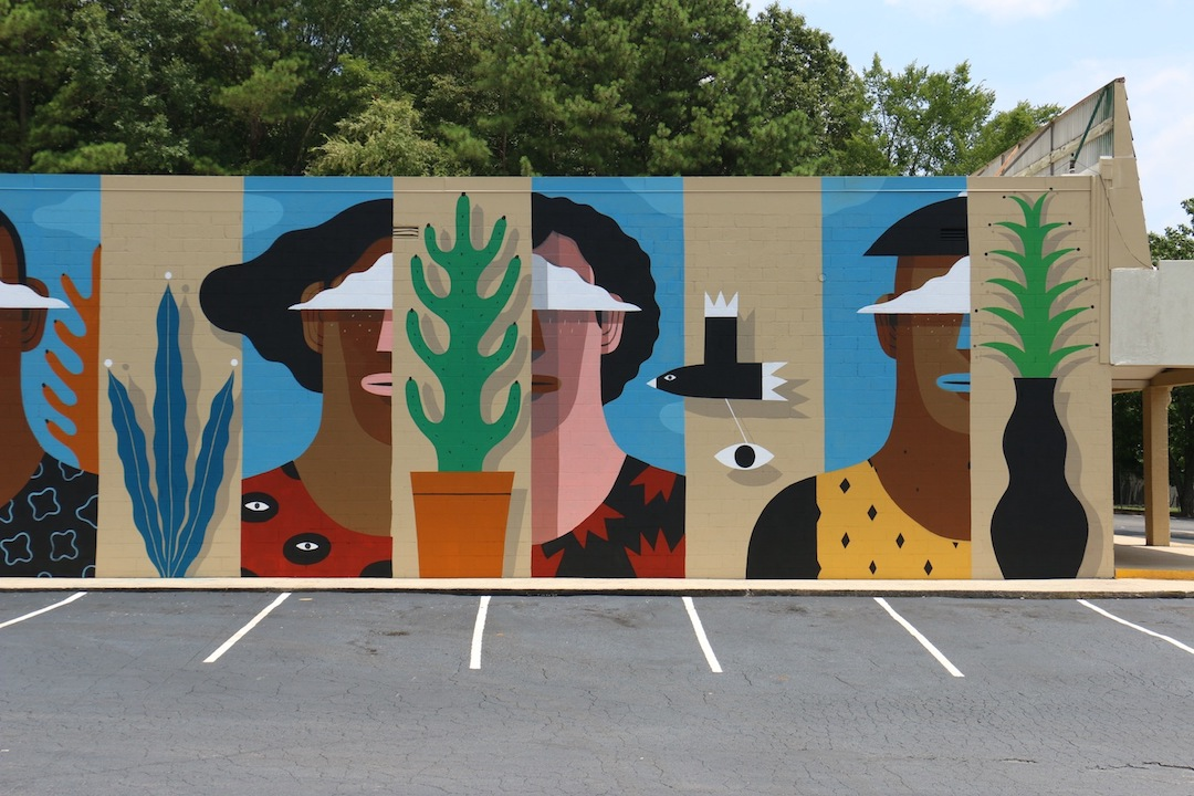 Mural painting by artist Agostino Lacurci