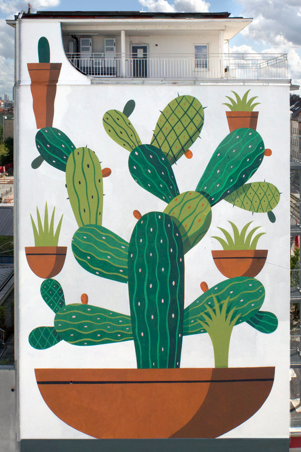 Wall painting by artist Agostino Lacurci