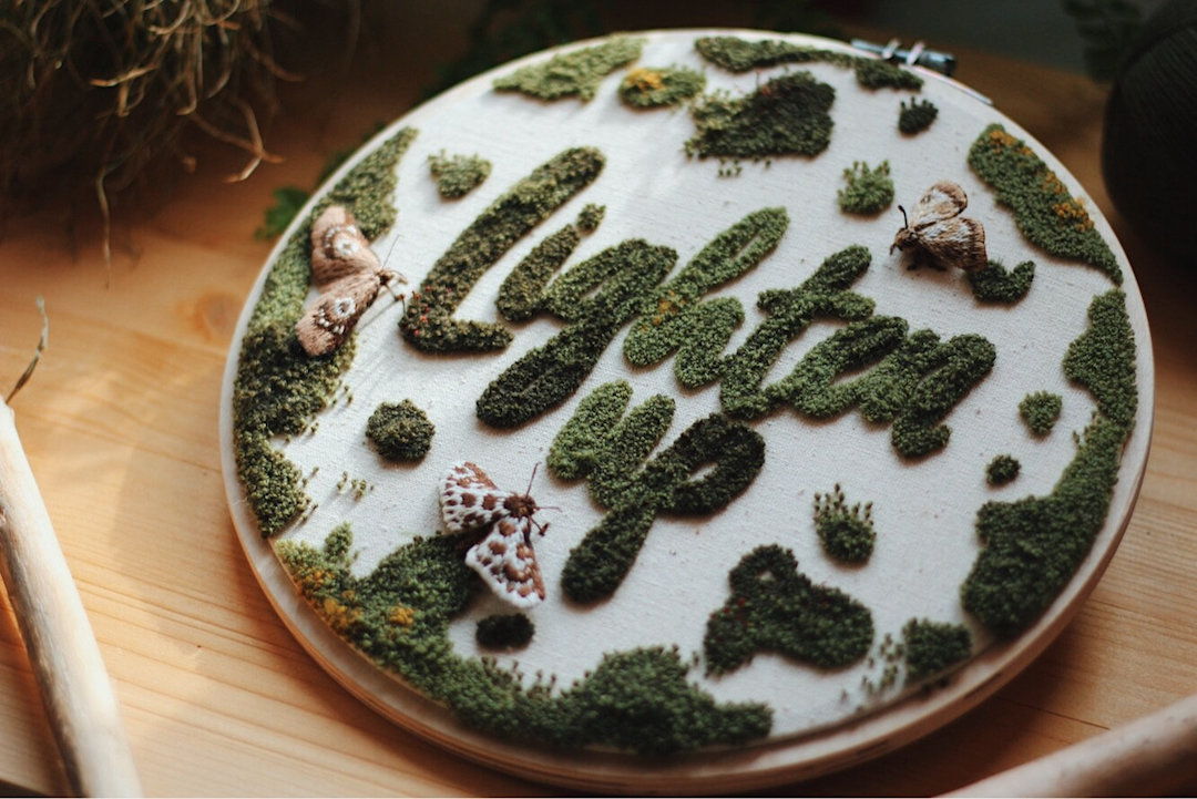Embroidery hoop art by Hygge by Nikitina