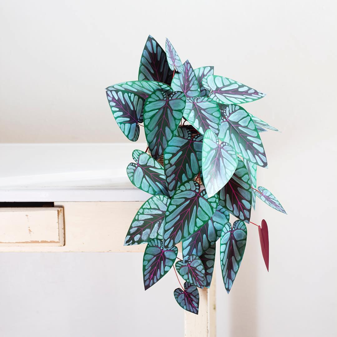 Paper plant crafted by Corrie Beth Hogg
