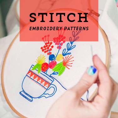 Embroidery Patterns Archives Brown Paper Bag