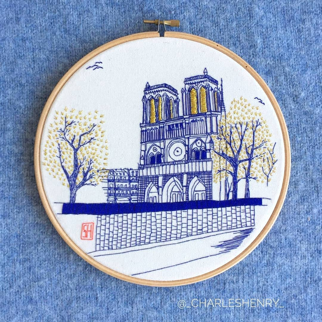 Travel embroidery by Charles Henry