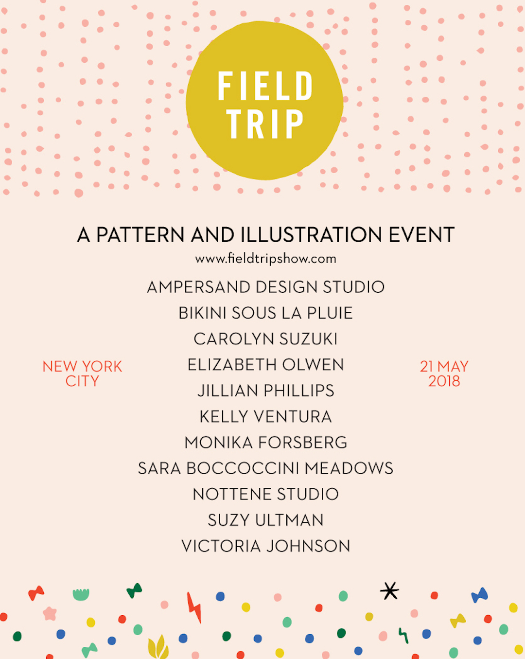 Artists featured in Field Trip Show 2018