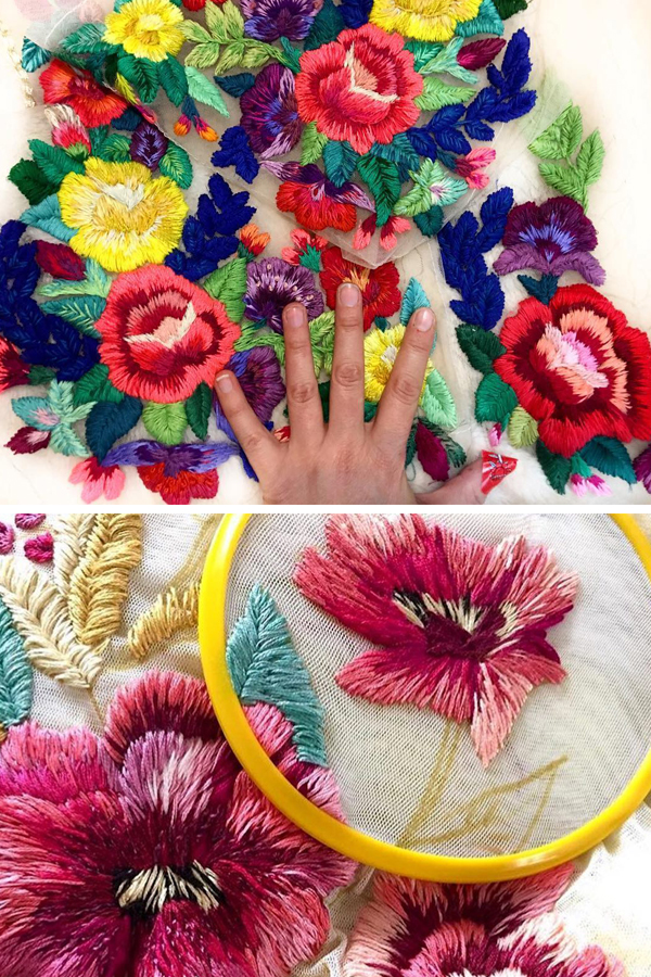 Hand embroidery by Ignancia Jullian