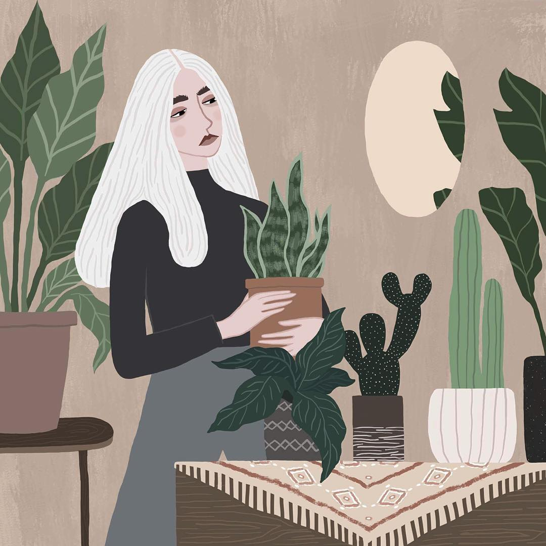 Fashionable illustrated women by Rachael Dean