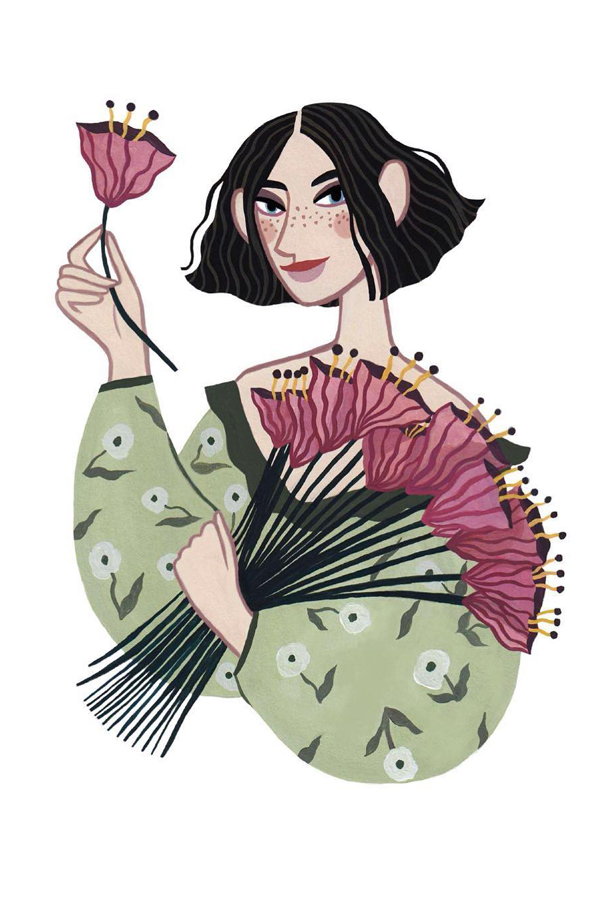 Fashionable illustrated lady by Rachael Dean