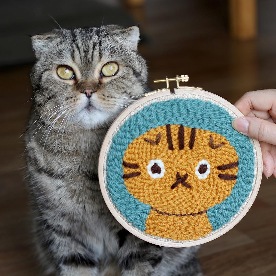 Punch needle embroidery by Studio Myome