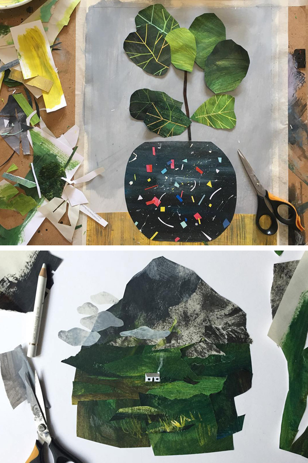 Cut paper collage by Clover Robin