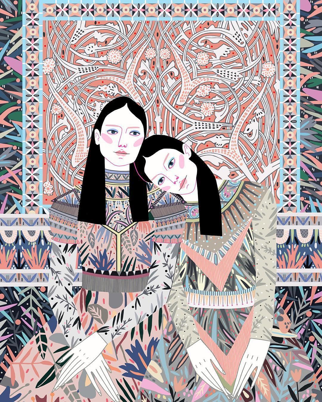 Fashion illustration by Sasha Ignatiadou