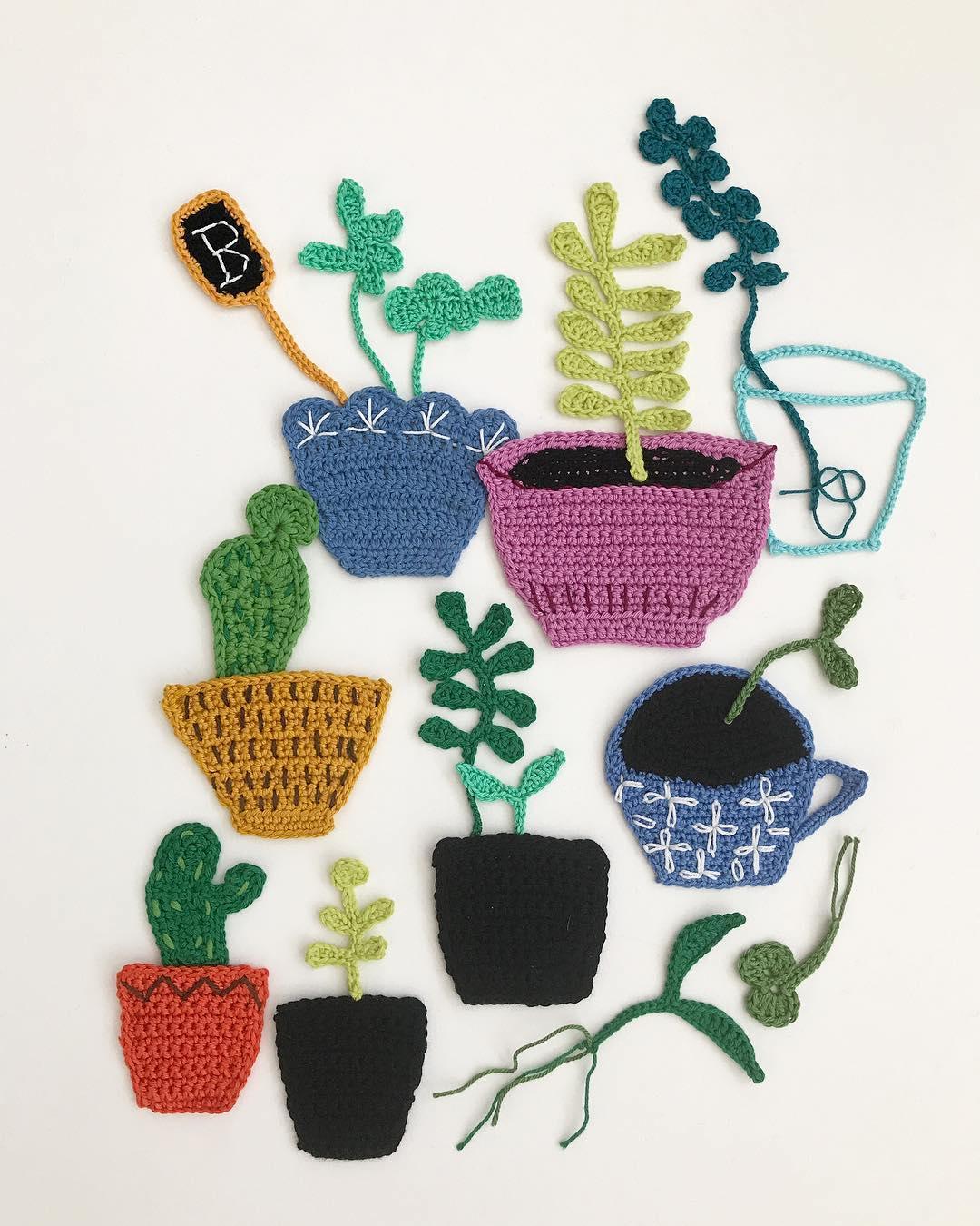 Freeform crochet art by Tuija Heikkinen
