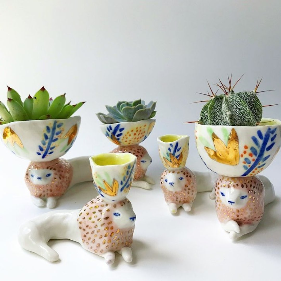 Ceramic Animals Help Keep Your Favorite Plants Happy