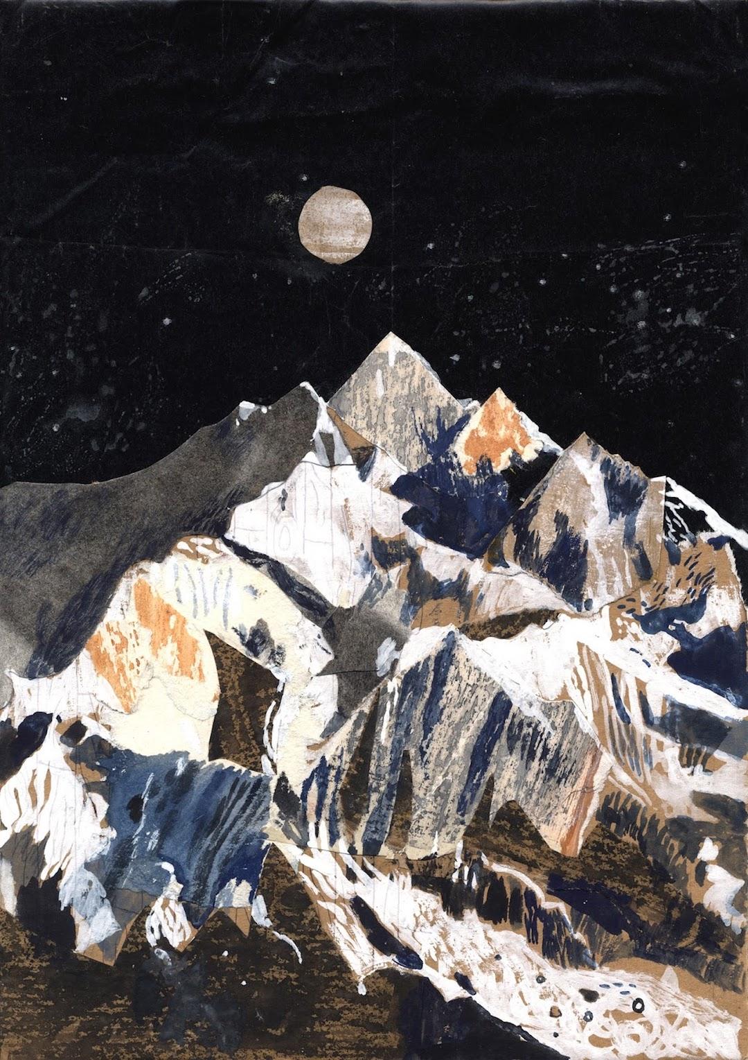 Collage art illustration by Chris Hagan