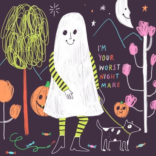 Halloween illustration by Jordan Sondler