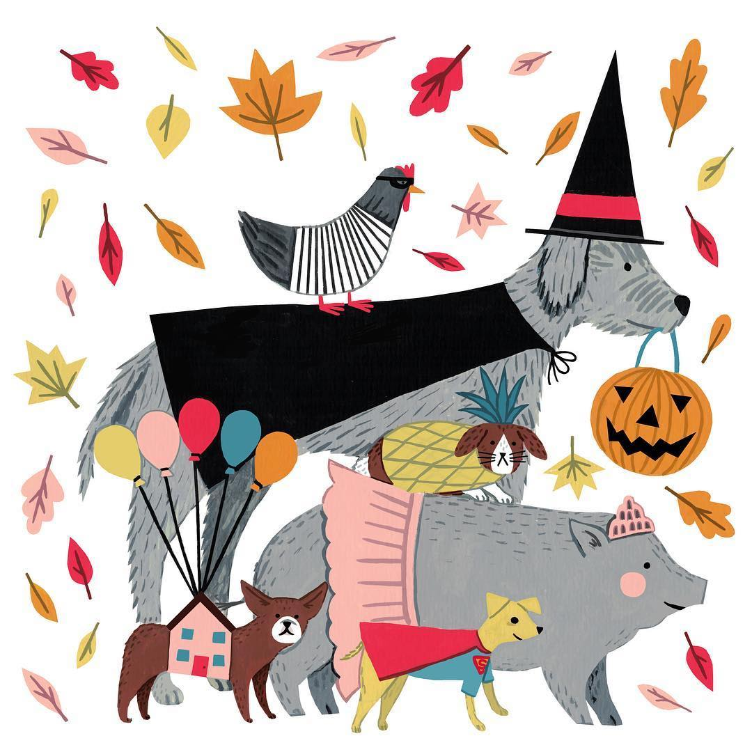 Halloween illustration by Holly Maguire