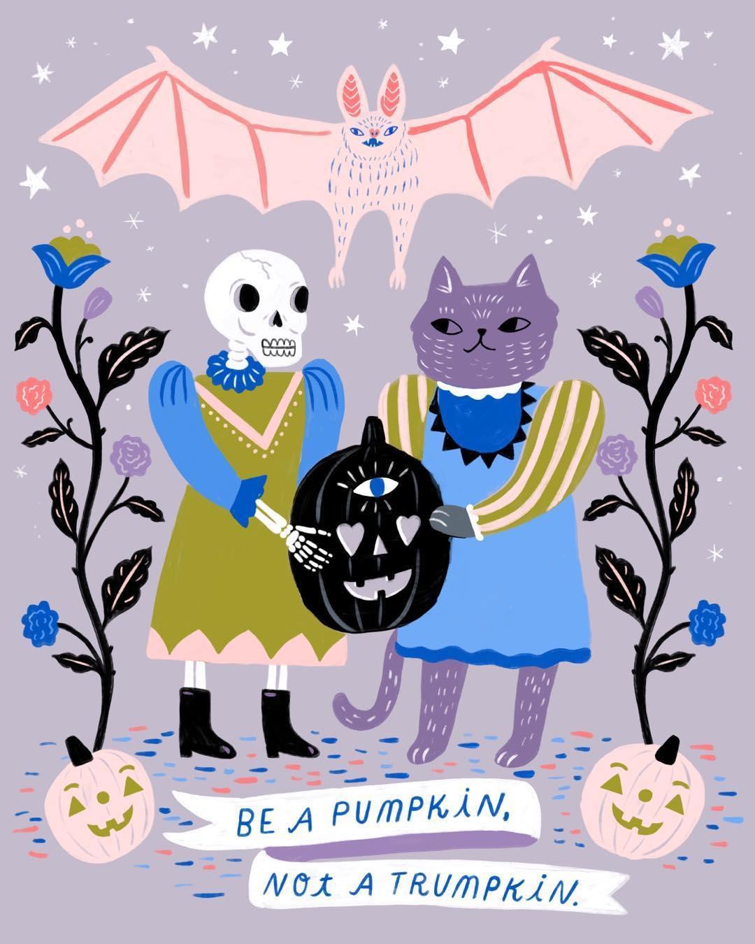 Halloween illustration by Sarah Walsh