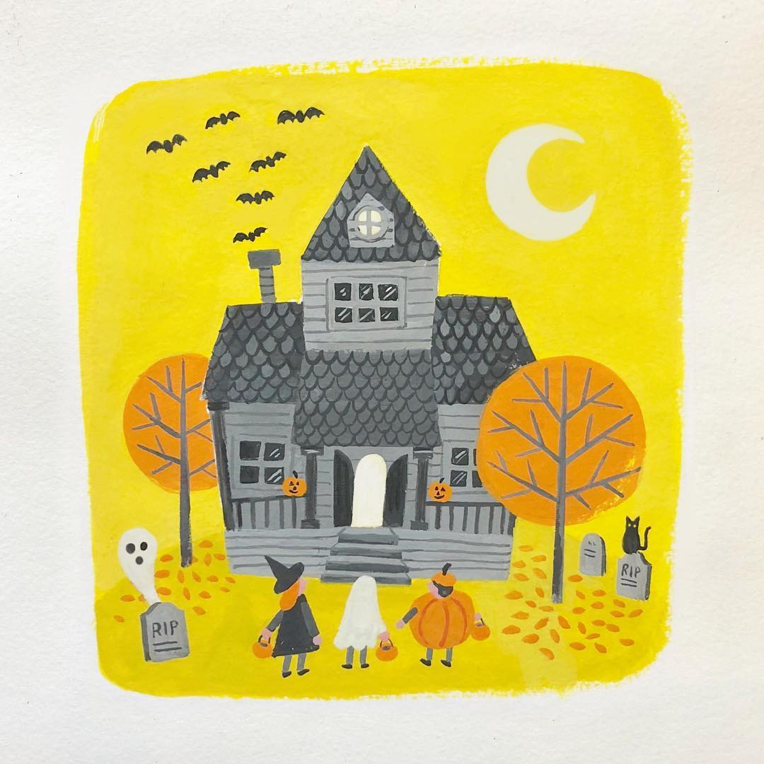 Halloween illustration by Jacqui Lee