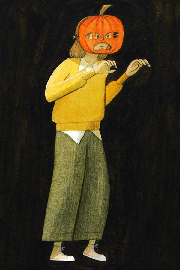 Halloween illustration by Eleni Kalorkoti