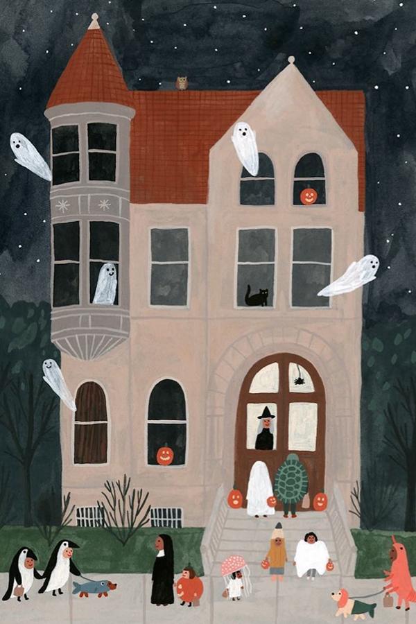 Halloween illustration by Kate Pugsley