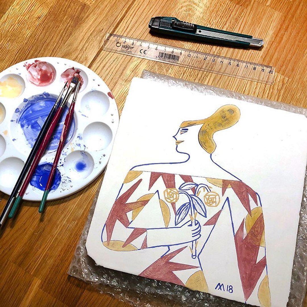 Illustrated ladies by Malota