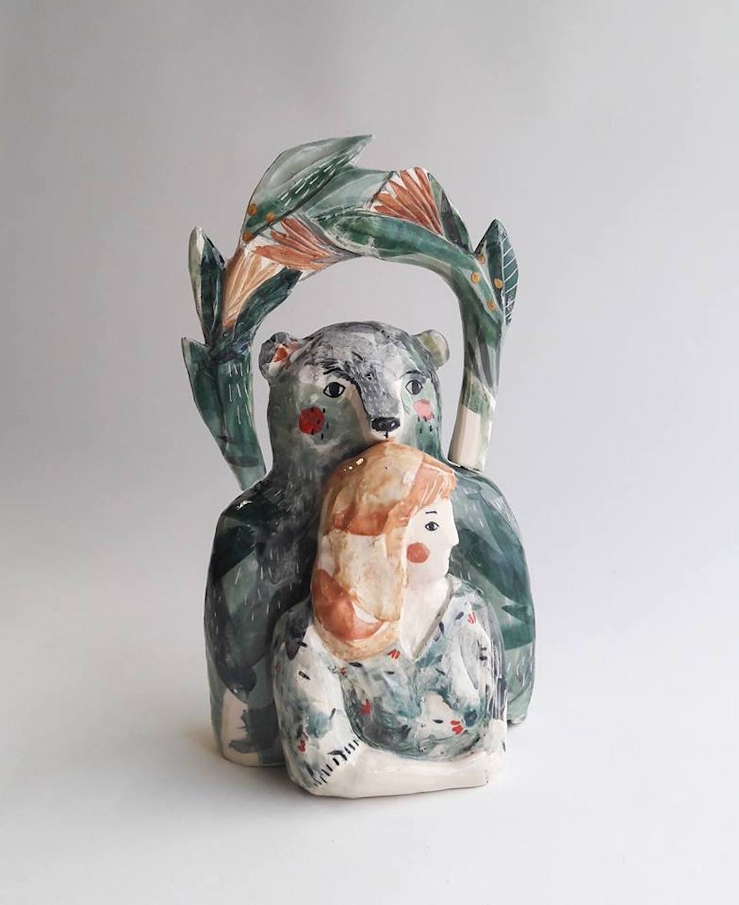 Watercolor ceramics by Elise Lefebvre