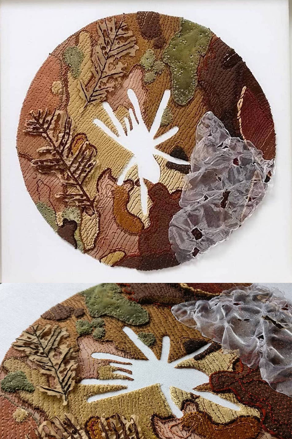 Applique embroidery by Katie Tume