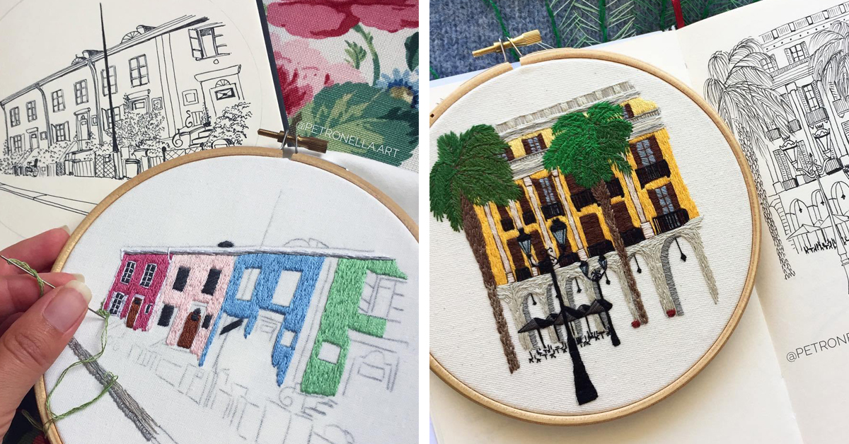 Travel the World With Hand Embroidery Patterns by Le Kadre