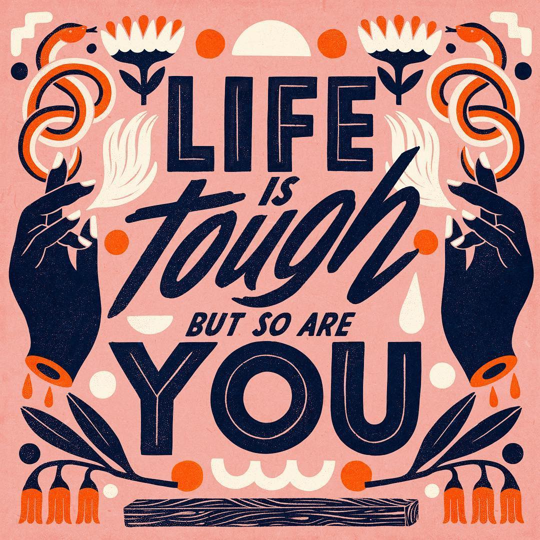 Hand lettering quotes by Carmi Grau