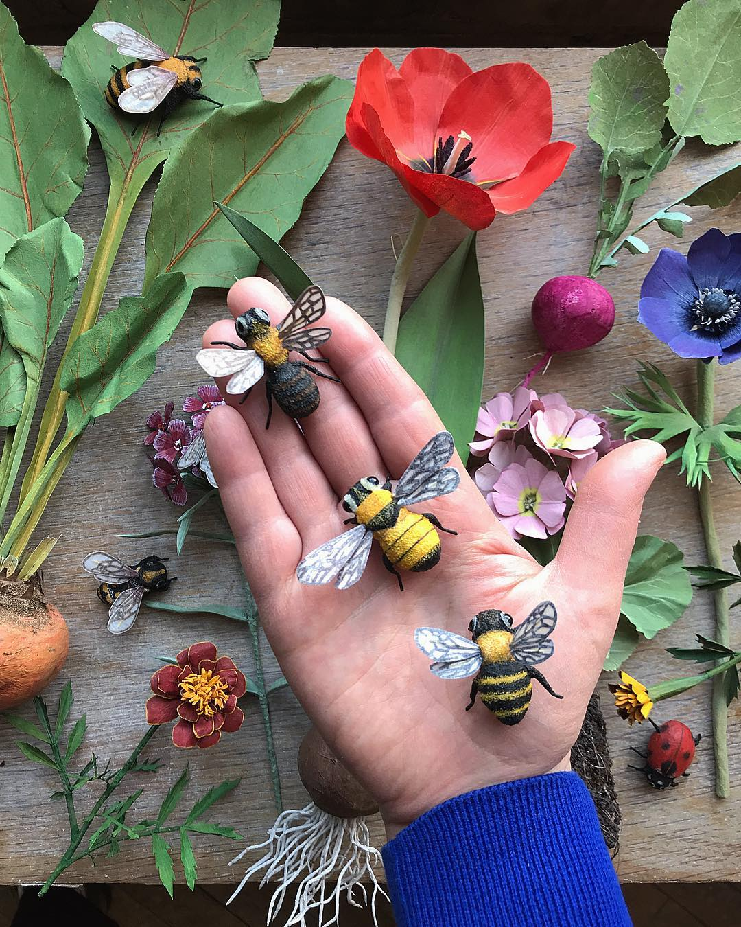 Lifelike Paper Flowers Are Crafted from the Blooms in Artist Ann Wood's Garden