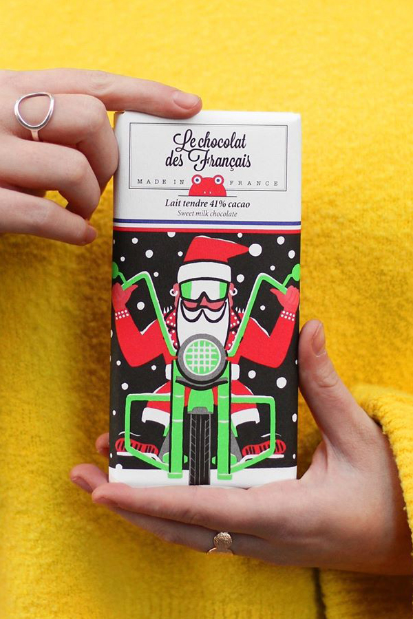 Illustrated packaging for chocolate bars