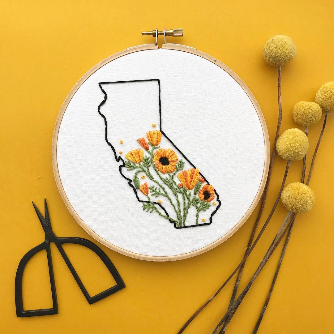 State-Inspired Hoop Art Celebrates the Natural Beauty of Places We Live