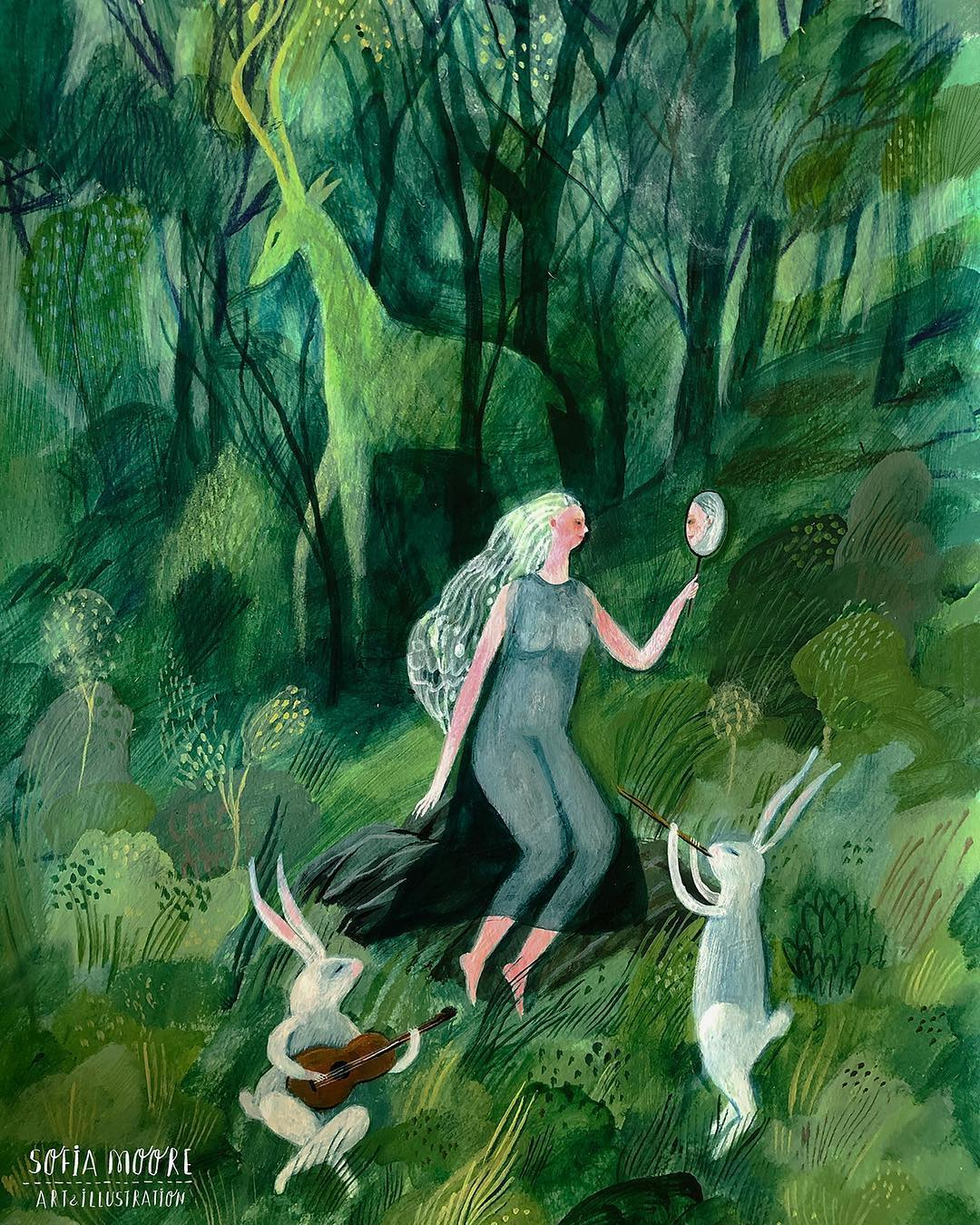 Imaginary illustrations by Sofia Moore