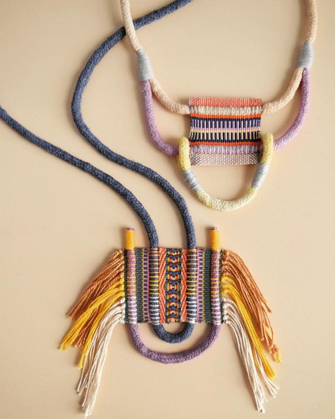 Weavings and Wrappings Form Stunning Textile Art to Wear Around Your Neck