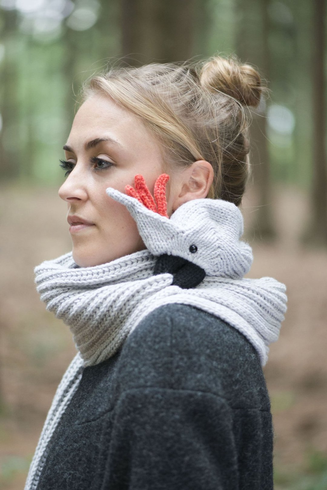 Knitted animal scarf by Nina Fuehrer