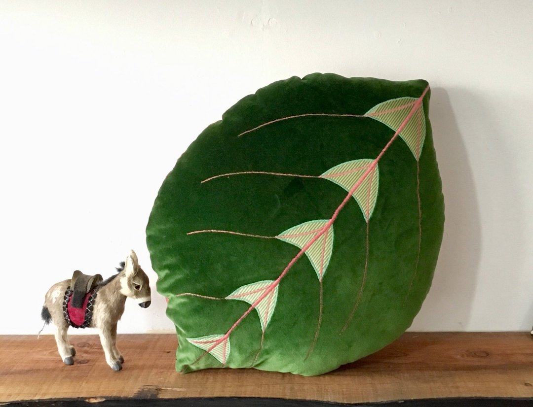 Novelty pillows shaped like plants