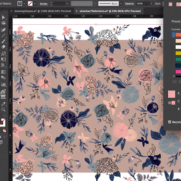 Learn how to create patterns on Skillshare