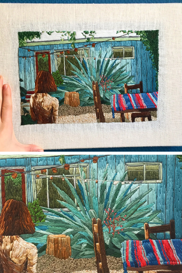 Hand embroidery by Tiny Windows