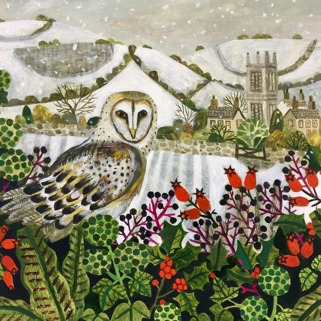 Winter art by Vanessa Bowman