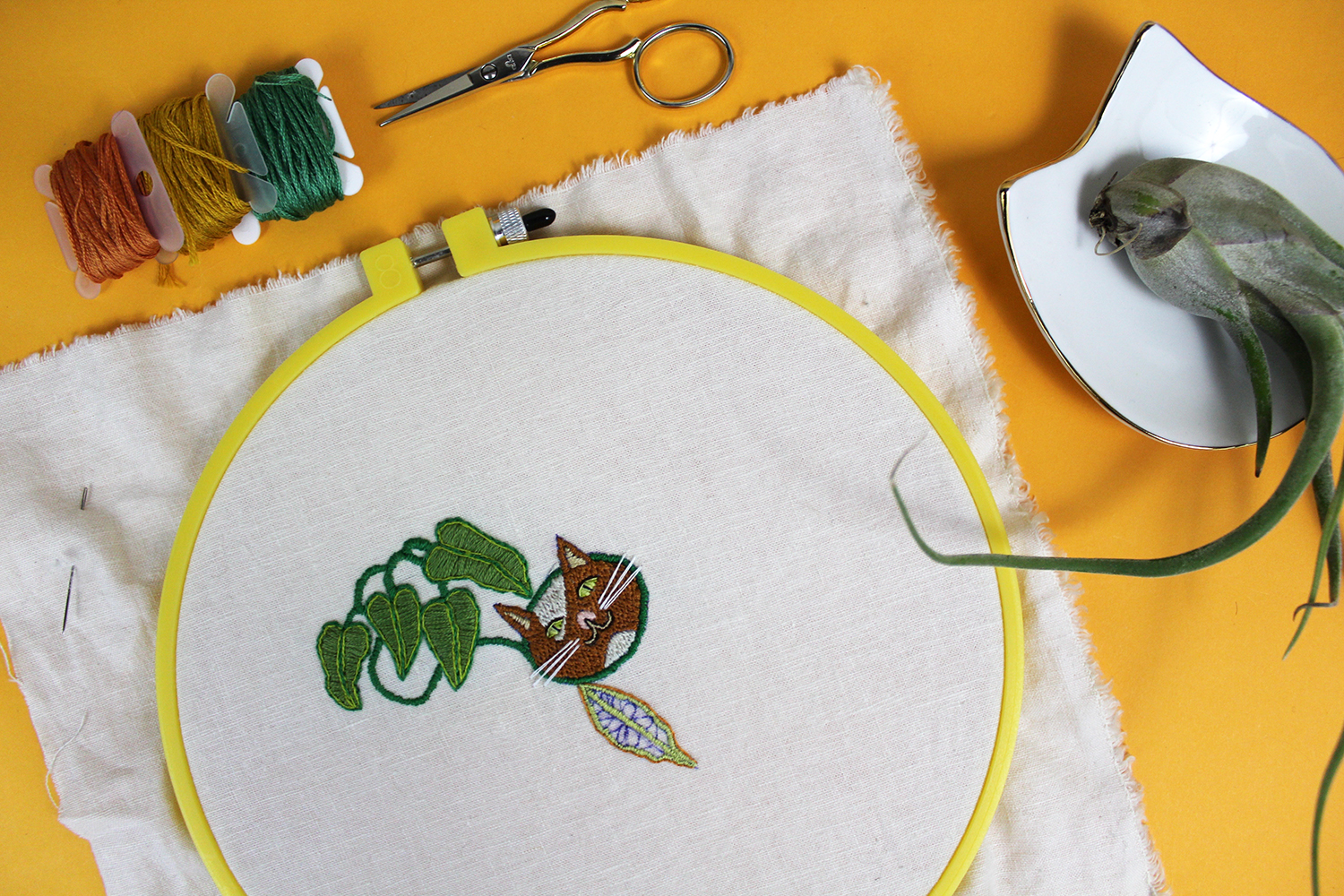 1 Year of Stitches hand embroidery project