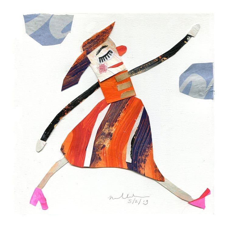 Collage sketchbook by Nelleke Verhoeff