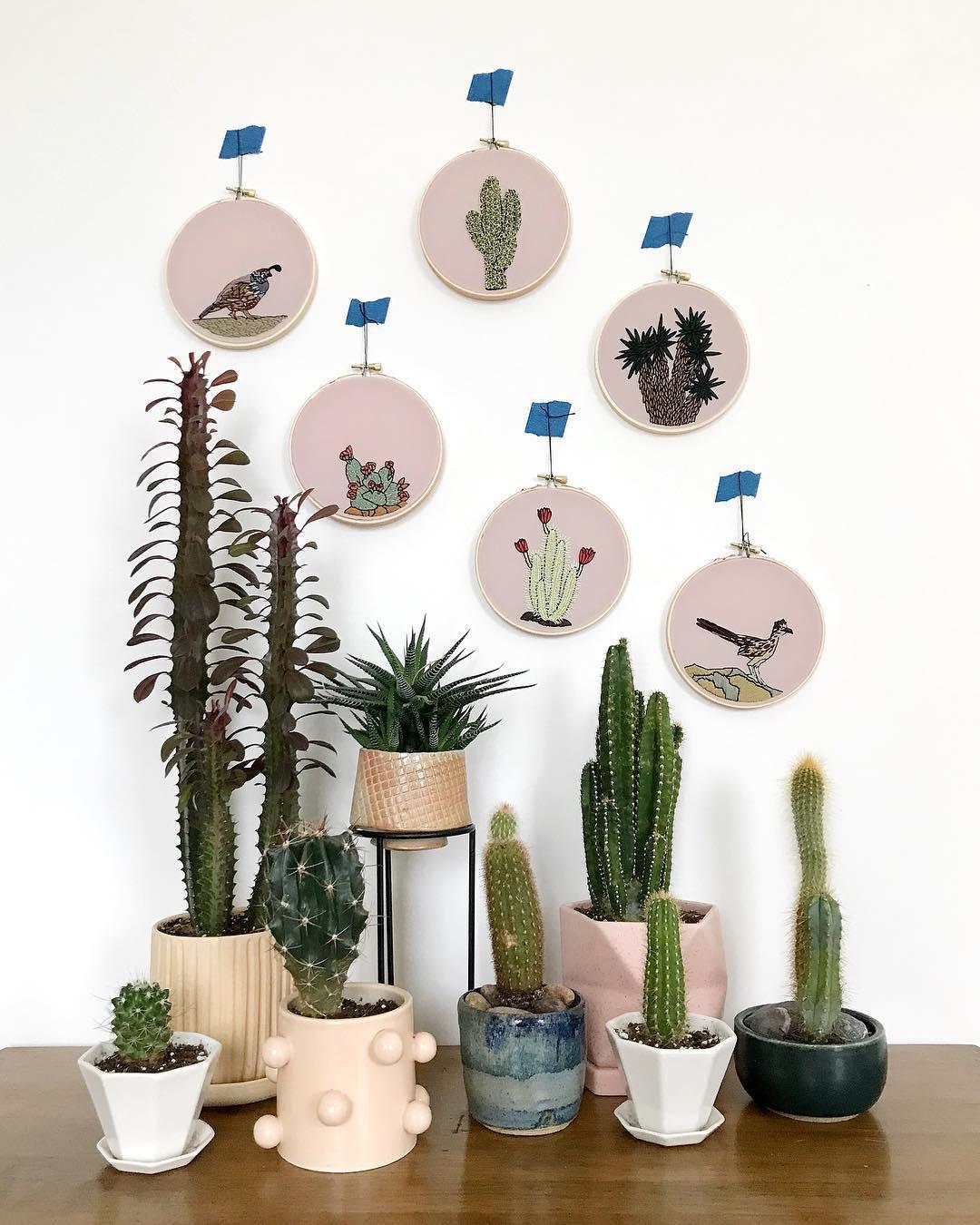 Desert embroidery patterns by Sarah K. Benning