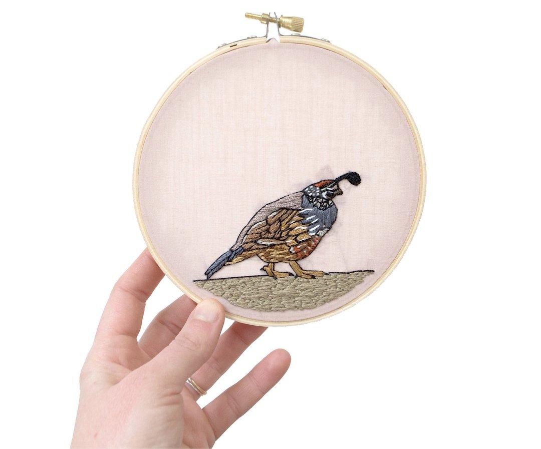 Desert embroidery pattern by Sarah K. Benning