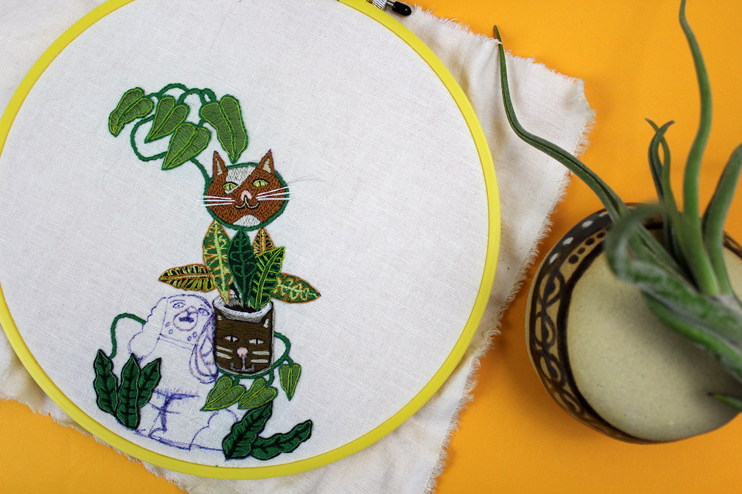 1 Year of Stitches embroidery project by Sara Barnes