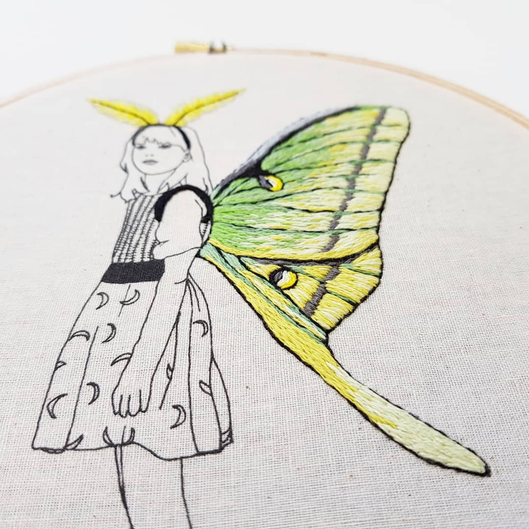 Embroidery art by Cheese Before Bedtime